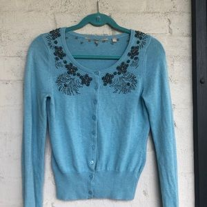 Anthropologie embellished sweater